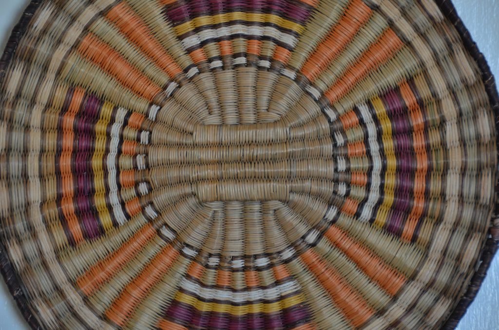 Native American Basket : Hopi Wicker Plaque : Basket 28 - Getzwiller's Nizhoni Ranch Gallery