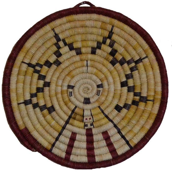Native American Basket : Hopi Wicker Plaque : Basket 31