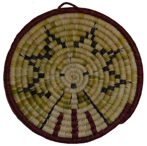 Native American Basket : Hopi Wicker Plaque : Basket 31 - Getzwiller's Nizhoni Ranch Gallery
