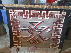 malinda nez optical navajo rug