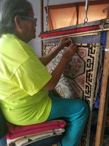 Burntwater Navajo Weaving : Irene Bia : Churro 1548 - Getzwiller's Nizhoni Ranch Gallery