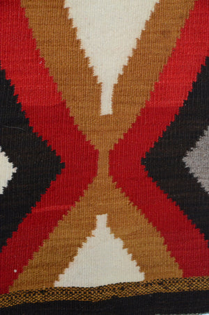 close up Antique Navajo rug for sale.