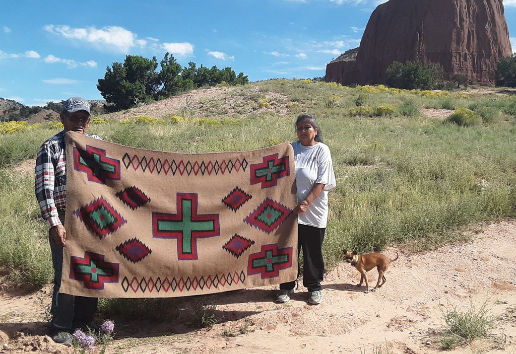 Navajo serape woven with Alpaca wool hot of the loom!!!