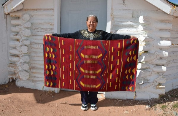 Child's Blanket : Kathy Marianito : Churro 1317 - Childs Blanket - Churro Collection- Getzwiller's Nizhoni Ranch Gallery - NavajoRug.com