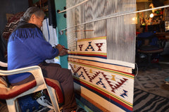 Master Navajo Weaver at Work for Nizhoni Ranch Gallery