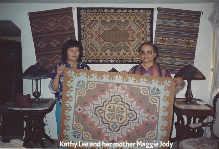 SOLD Burntwater Navajo Weaving : Kathy Lee : KL-2
