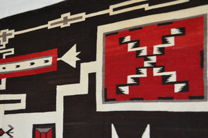 "Storm Pattern Navajo Weaving  : Historic : GHT 2297-KS : 77"" x 112"" - Getzwiller's Nizhoni Ranch Gallery"
