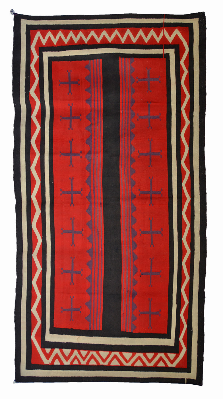 Late Classic Navajo Blanket : Historic Hubbell Portiere:  PC 288