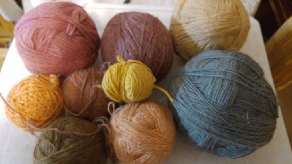 Vegetal dyed wool
