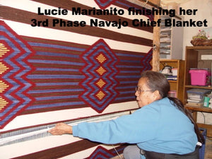3rd Phase Navajo Chief Blanket : Lucie Marianito : Churro 1389 - Getzwiller's Nizhoni Ranch Gallery