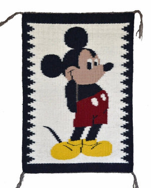 Pictorial : American Indian Rug : Mickey Mouse: Jo Anne Begay : 3265 : 14 ″ x 20″ - Getzwiller's Nizhoni Ranch Gallery