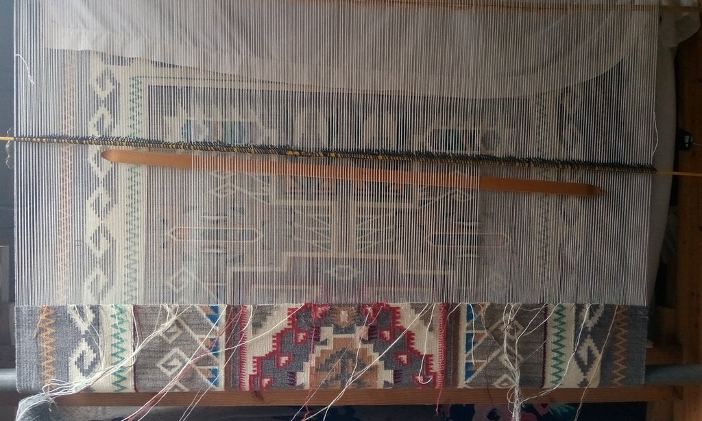 Navajo Rug on the loom