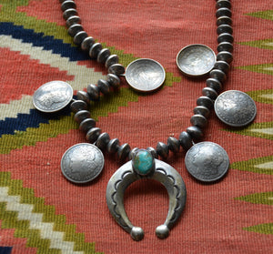 Native American Jewelry : Navajo : Coin Silver Necklace : NAJ-32N - Getzwiller's Nizhoni Ranch Gallery