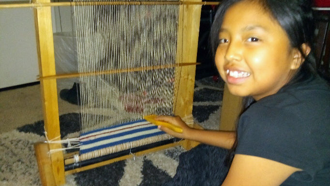 1st time weaving a Navajo Rug