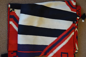 "SOLD 3rd Phase Chief Blanket : Historic Navajo Blanket : GHT 393 : 72"" x 78"""