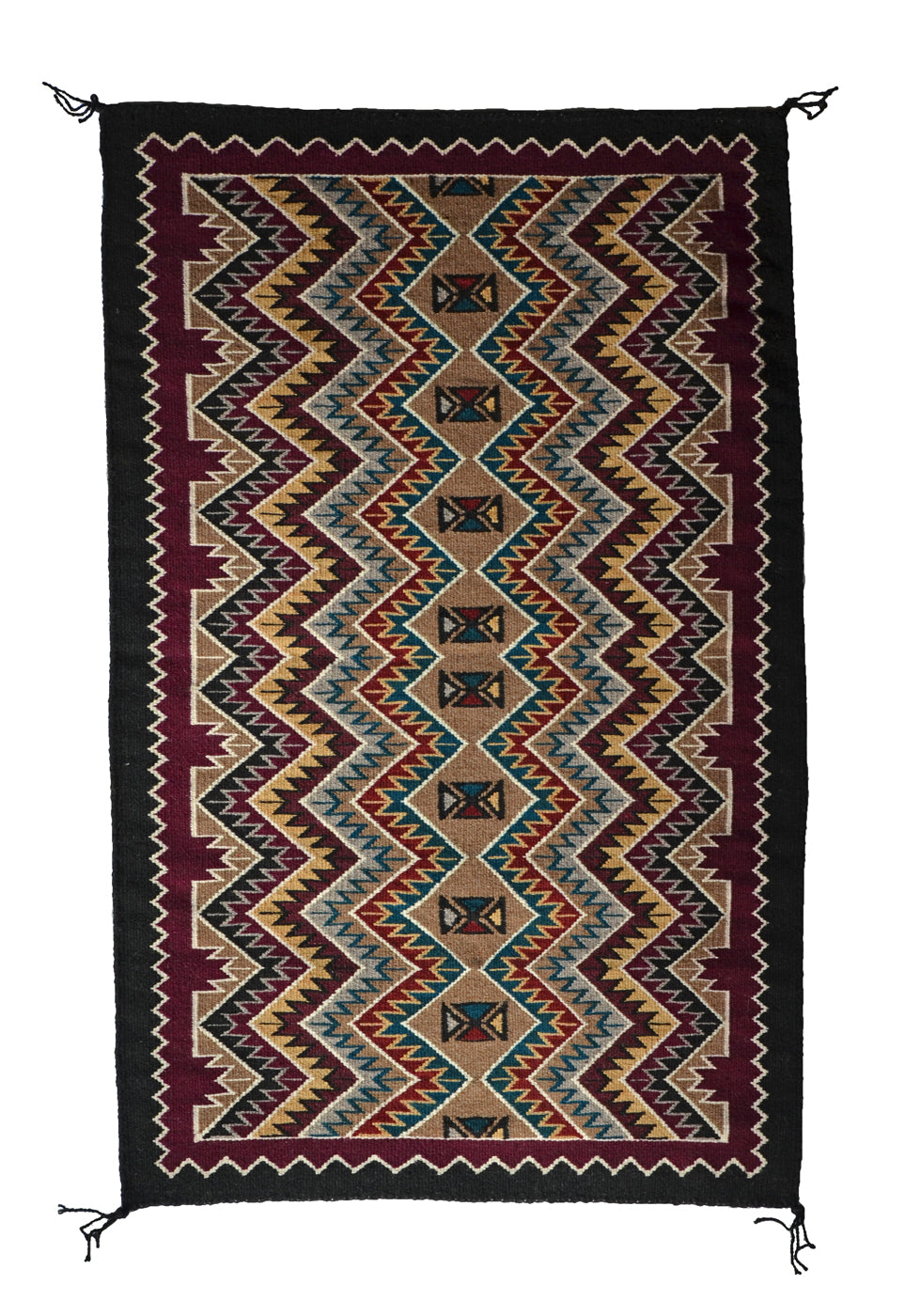 Red Mesa Navajo Weaving : Cecelia Nez : Churro 1414