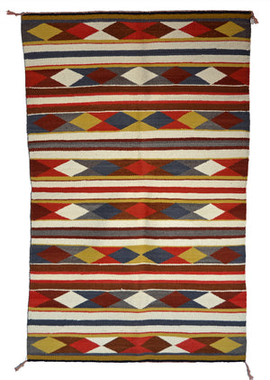 "SOLD Navajo Saddle Blanket - Double  : Charlotte Yazzie : Nizhoni Ranch Gallery : SG 31 : 39"" x 61"""