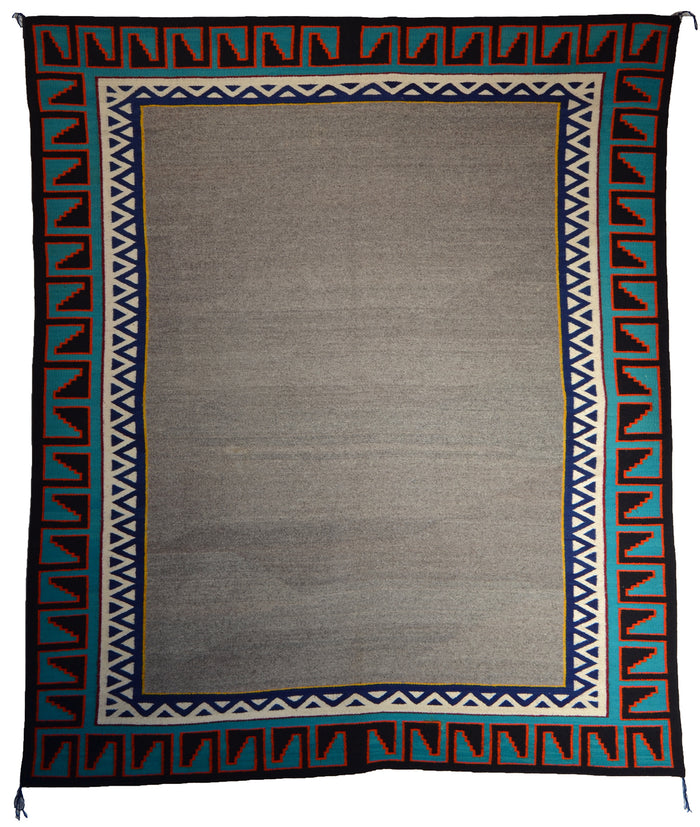 "SOLD - Navajo : Double Saddle Blanket Style :  SG 32 : 57"" x 66"""