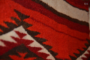 "Vintage Navajo Single Saddle Blanket - Transitional Period  :  PC 206 : 39"" x 31"" - Getzwiller's Nizhoni Ranch Gallery"
