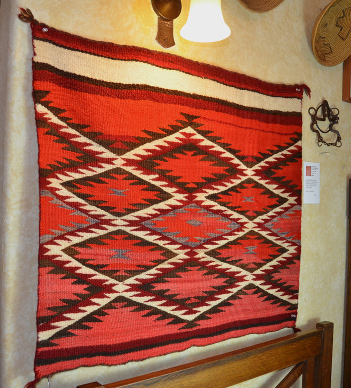 "Vintage Navajo Single Saddle Blanket - Transitional Period  :  PC 206 : 39"" x 31"""