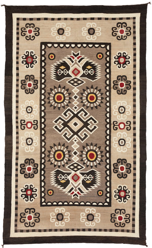 "Bistie Navajo Weaving : Historic : PC 102 : 55"" x 92"""