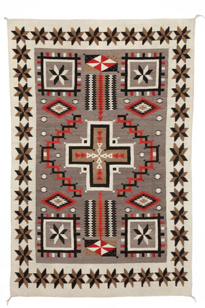 JB Moore Navajo Rug : Historic : PC 104 : 51″ x 78″