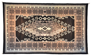 "Two Grey Hills Bistie Navajo Rug : Historic : PC 120 : 74"" x 127"" - Getzwiller's Nizhoni Ranch Gallery"