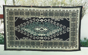 "Two Grey Hills Bistie Navajo Rug : Historic : PC 120 : 6'2"" x 10'7"" - Getzwiller's Nizhoni Ranch Gallery"