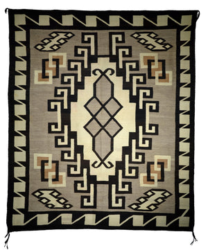 Two Grey Hills Navajo Rug Weaving : Historic : PC 130 - Getzwiller's Nizhoni Ranch Gallery