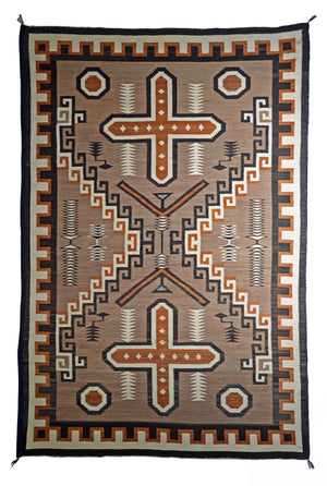 Two Grey Hills - Sanostee Navajo Weaving : Historic : PC 135