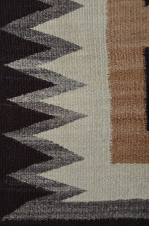 "Two Grey Hills : Historic Navajo Rug : PC 136 : 46"" x 76"" - Getzwiller's Nizhoni Ranch Gallery"
