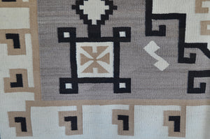 "Two Grey Hills - Toadlena Navajo Weaving : Historic : PC 138 : 52"" x 77"" - Getzwiller's Nizhoni Ranch Gallery"