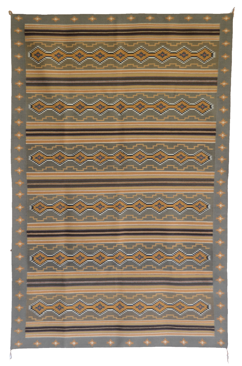 "Wide Ruin Navajo Weaving : Ellen Smith : PC 232 : 48"" x 73"""