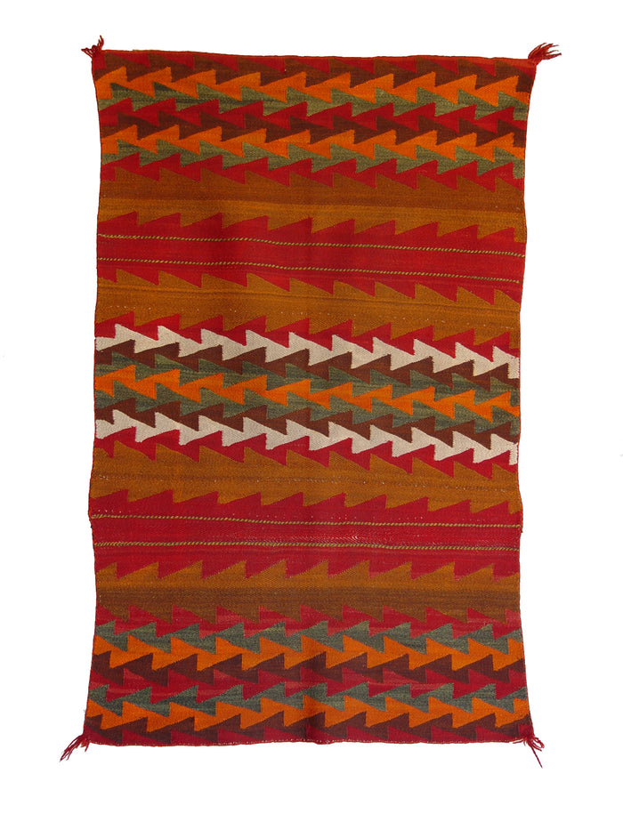 "Twill Double Saddle Blanket Navajo Weaving : Historic : PC 248 : 31.5"" x 48"""