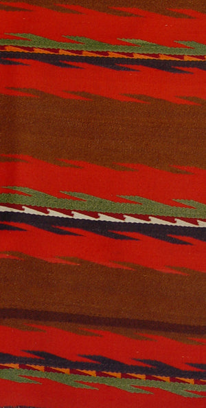 Double Saddle Blanket : Native American : Antique : PC 249 : 28″ x 48″ - Getzwiller's Nizhoni Ranch Gallery
