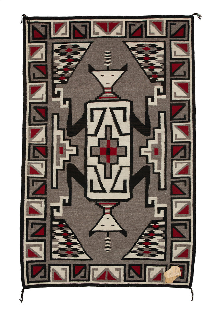 "Chee Dodge - Crystal Pictorial Navajo Rug : Historic : PC 276 : 48"" x 75"""