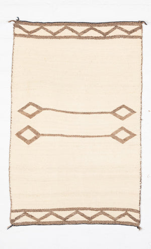 HOLD - Saddle Blanket - Double Navajo Weaving : Historic : PC 43 - Getzwiller's Nizhoni Ranch Gallery