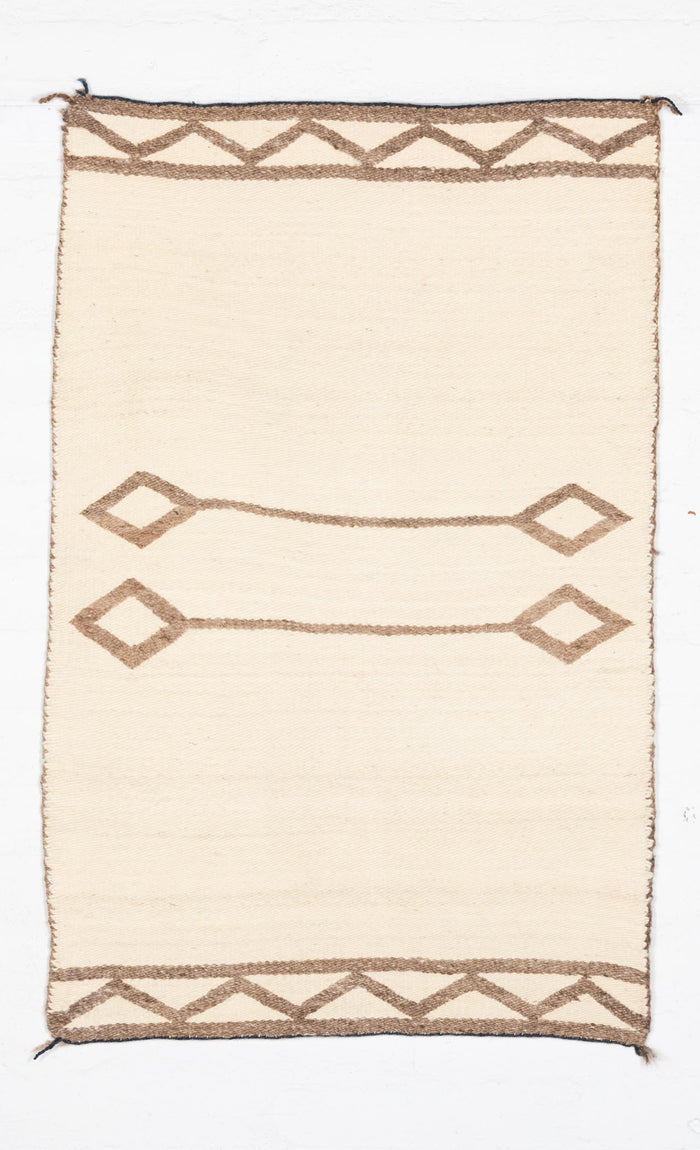 SOLD - Saddle Blanket - Double Navajo Weaving : Historic : PC 43