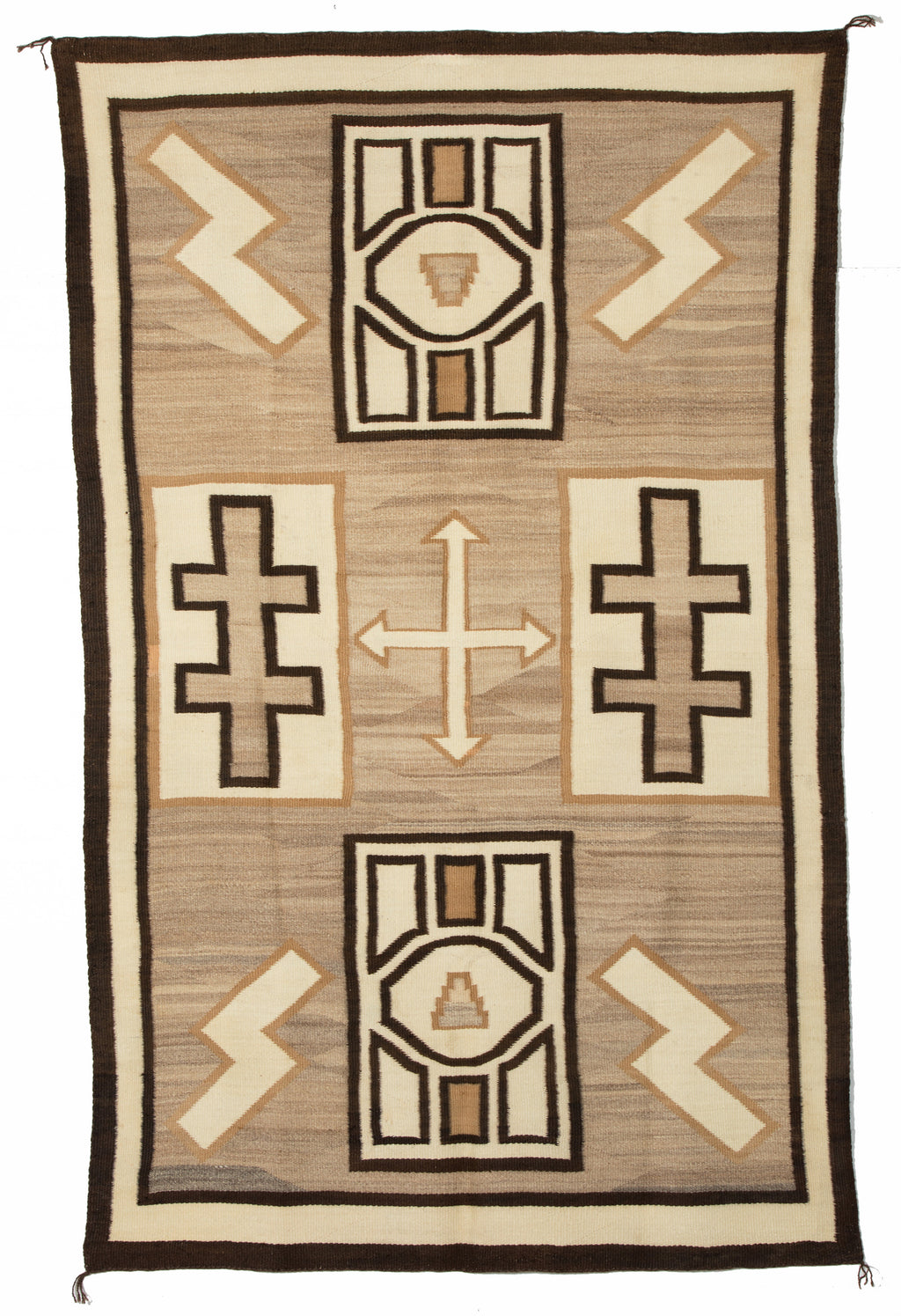 Two Grey Hills Navajo Rug-Historic