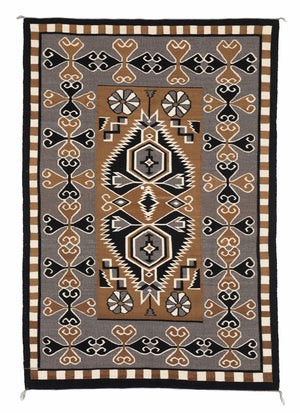 "Bistie Navajo Weaving : Historic : PC 101 : 54"" x 78"" - Getzwiller's Nizhoni Ranch Gallery"