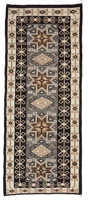 Antique Navajo Two Grey Hills Navajo Rug for Sale