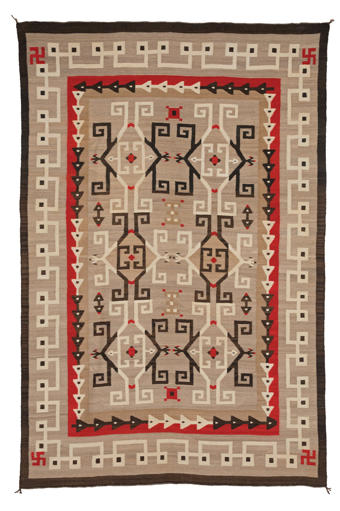 JB Moore- Crystal Navajo Rug : Historic : PC 105 : 62″ x 94″