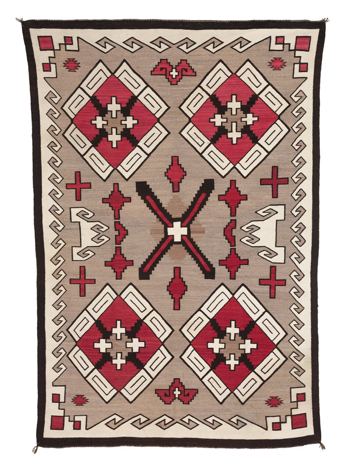 SOLD  Klagetoh Navajo Rug : Antique Weaving : PC 106