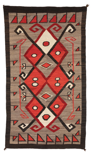 Crystal JB Moore Navajo Weaving : Historic : PC 115 : 46″ x 84″ - Getzwiller's Nizhoni Ranch Gallery