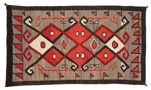 Crystal JB Moore Navajo Weaving : Historic : PC 115 : 46″ x 84″