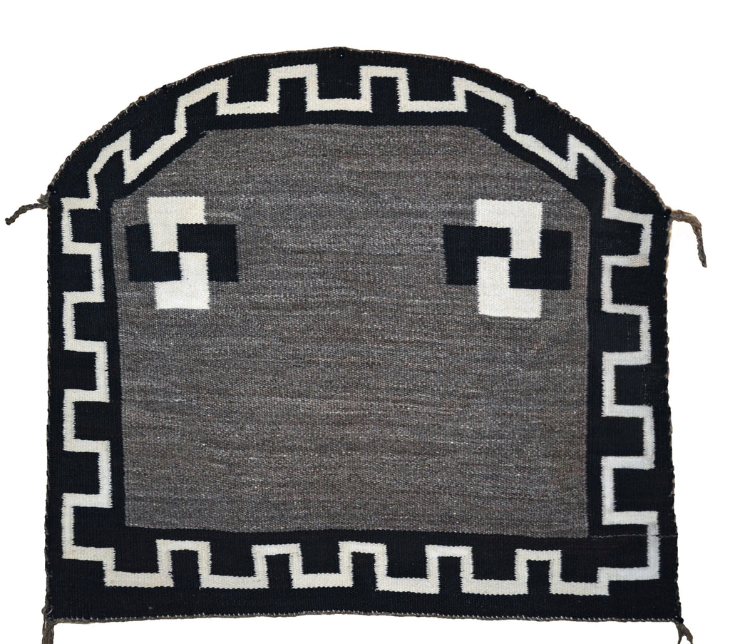 "Single Saddle Blanket : Historic Navajo Weaving : PC 208 : 27"" x 17"" - Getzwiller's Nizhoni Ranch Gallery"