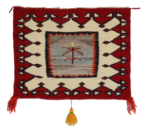 Pictorial Single Saddle Blanket : Historic Navajo Textile : PC 20 - Getzwiller's Nizhoni Ranch Gallery