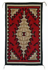 SOLD Two Grey Hills/Ganado Navajo Tapestry : Priscilla Taugelchee : PC 216