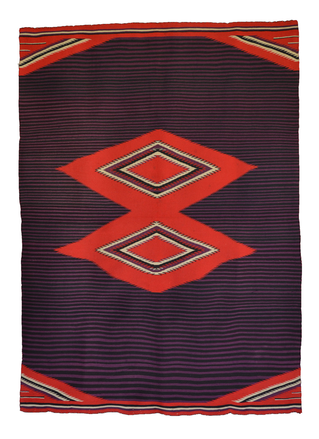 Moki Navajo Blanket : Historic : PC 259 - Getzwiller's Nizhoni Ranch Gallery
