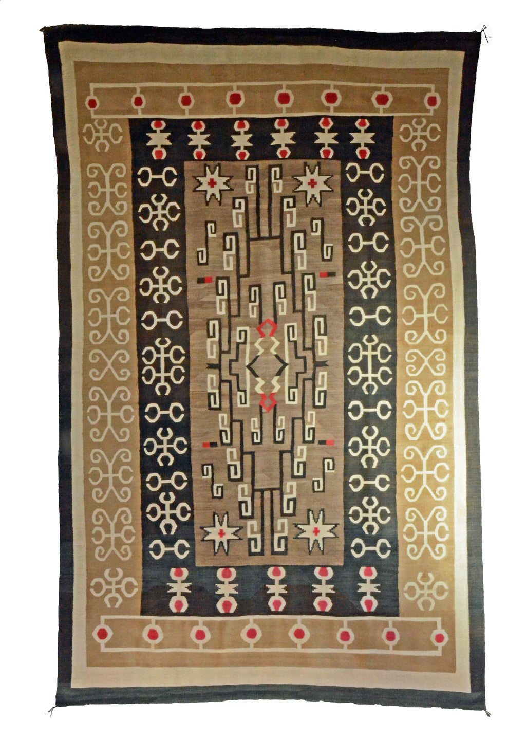 "Bistie Navajo Rug : Historic : PC 282 : 49"" x 122"" - Getzwiller's Nizhoni Ranch Gallery"